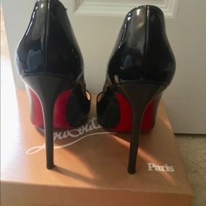Beautiful patent leather high heels